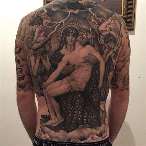 tattoo jesus maria full back religious mary and jesus tattoos