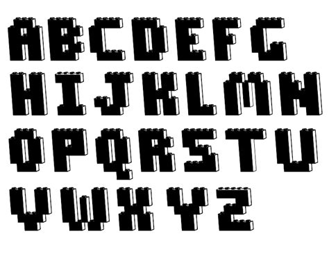 image gallery lego font