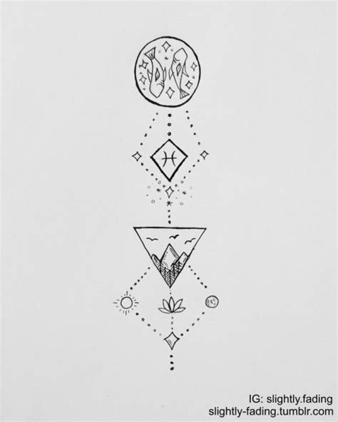 pisces sign tattoos designs pisces zodiac ideas bullet journals studyblr