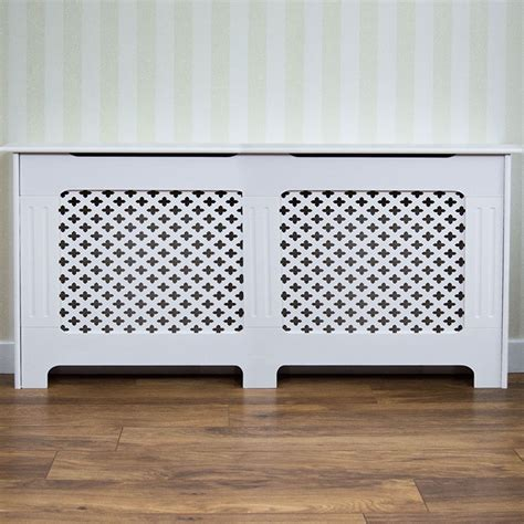 oxford radiator cover large natural mdf traditional white