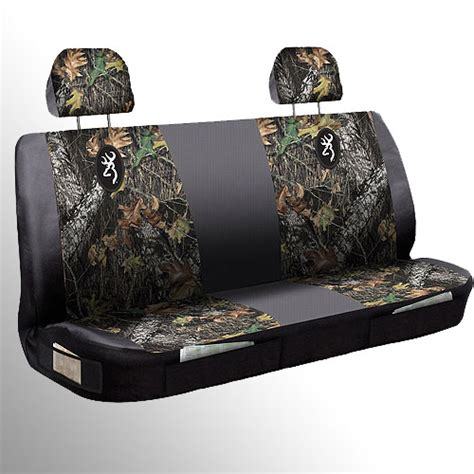 camo bench seat covers for trucks browning mossy oak camo truck bench seat cover hunting ebay
