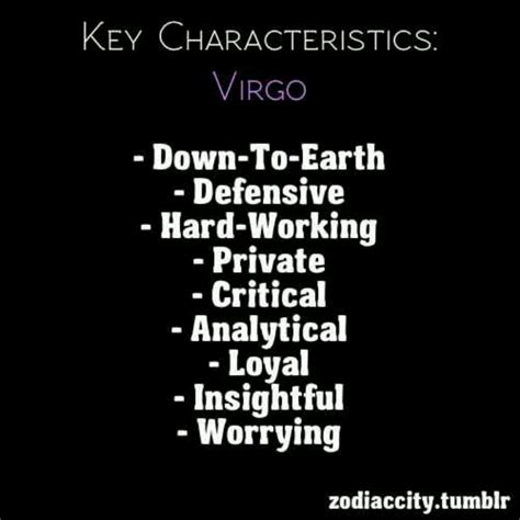 virgo characteristics virgo pinterest virgos
