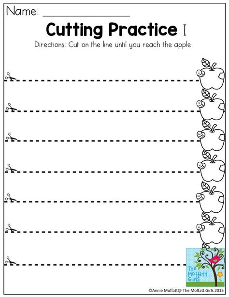 printable practice cutting sheets cutting practice tons of fun printable practice sheets