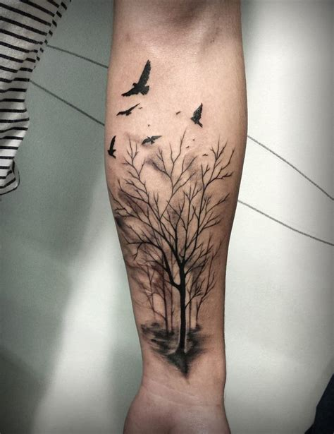 tree tattoos forearm 89 best baum tattoos images on ideas