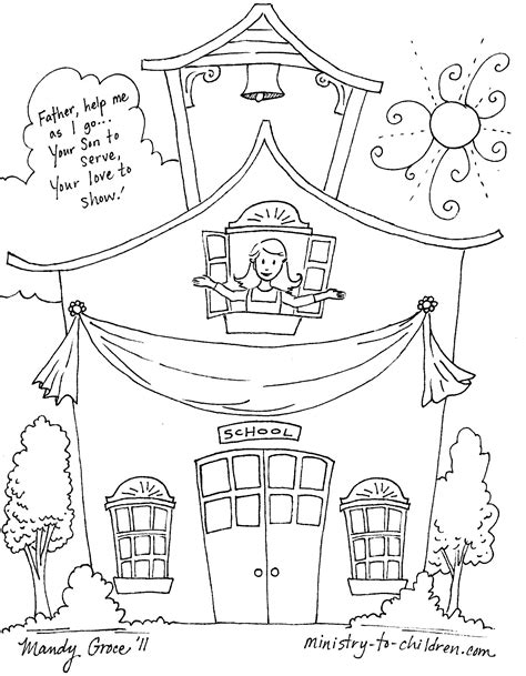 First Day Of School Coloring Pages Day Of School Coloring Page
