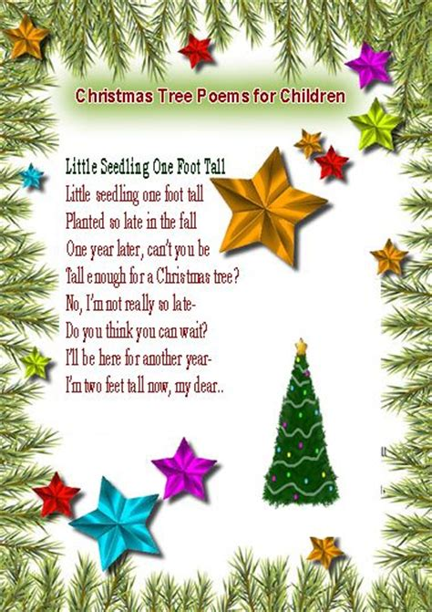 christmas tree poems for children tree poems for children recreation and leisure