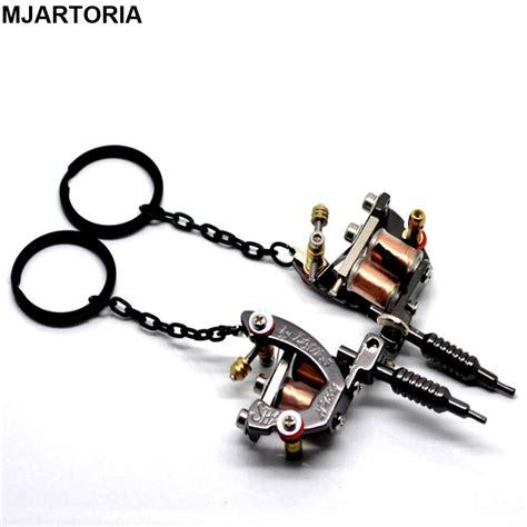 tattoo machine jewelry fine jewelry 1pc black metal mini tattoo machine chains