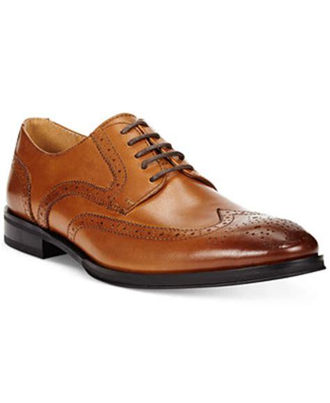 comfort shoes miller place alfani men s platinum miller wing tip derbys shoes men