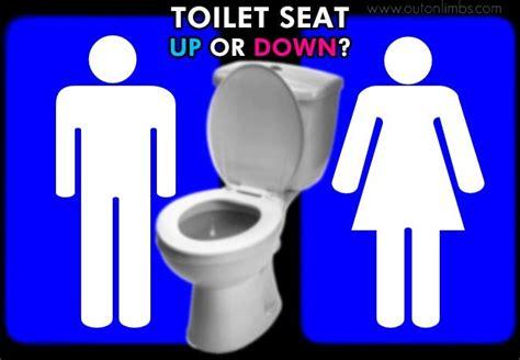 leave  toilet seat   put    limbs