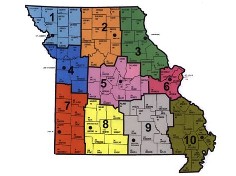 missouri map cities and counties mo counties map