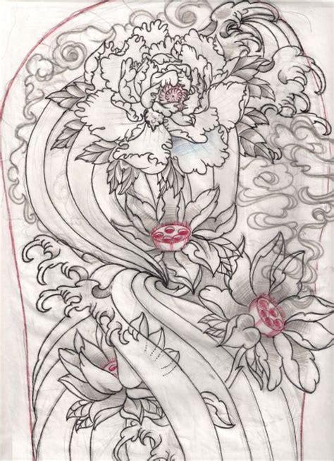 tattoo japanese sketch ink tattoo flower tattoo by jack marsh