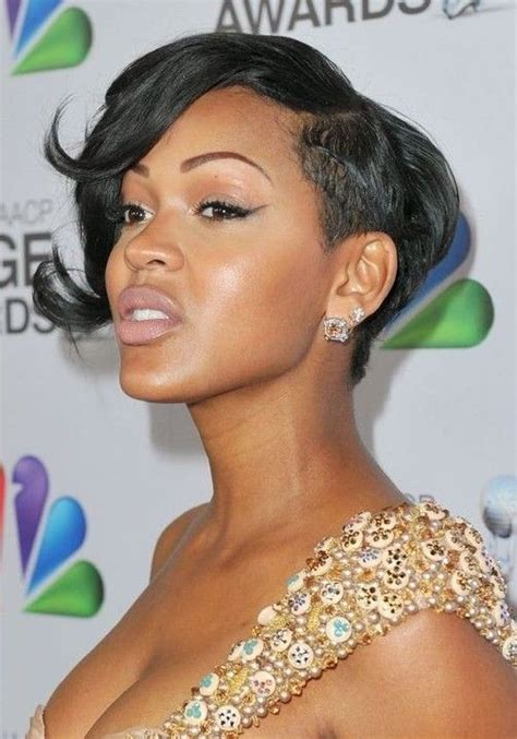 meagan good inspired hairstyle on short natural hair 28 trendy black women hairstyles for short hair popular