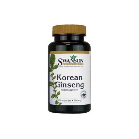 Dijamin Nature S Health Korean Ginseng 500mg 100 Capsules korean ginseng 500 mg 100 capsules by swanson premium