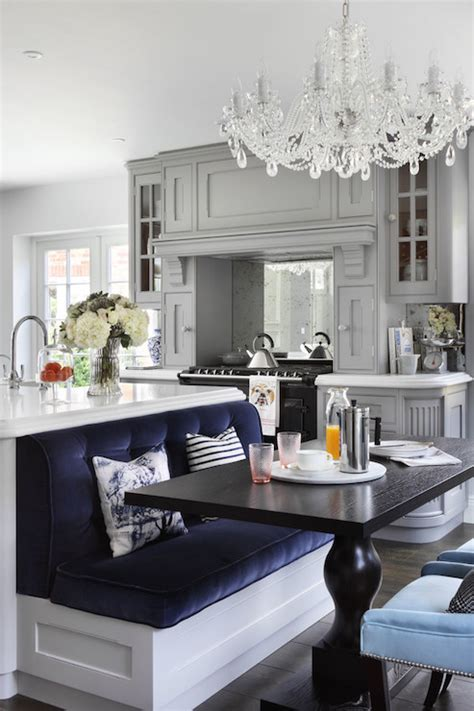 kitchen island with banquette island banquette transitional kitchen studio m interiors