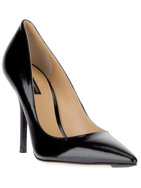 high heels and pumps three black leather pumps from dolce gabbana or is it