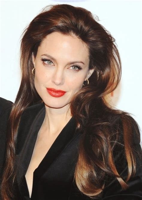 angelina jolie hairstyles 2016 pictures of angelina 35 long layered haircuts with bangs