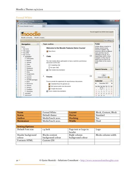 moodle theme brick a look at moodle 2 themes