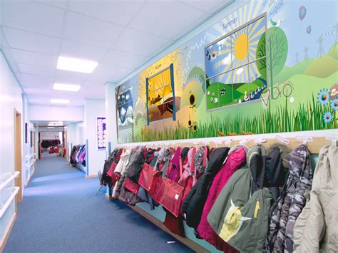 1 Wall Murals st peter s primary school four seasons corridor