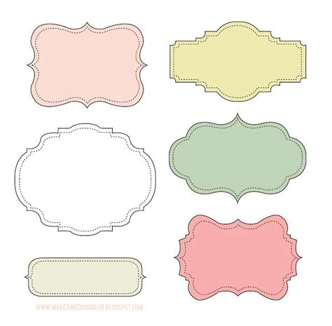 printable labels template free makea free cute label frames look at these labels