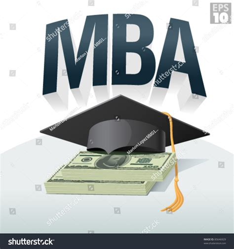 Mba Free Of Cost by Mba Degree Cost Tuition Graduation Cap Stock Vector