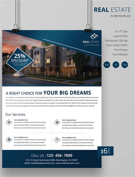 real estate flyer free psd ai vector eps for on simple flyer template psd business templates