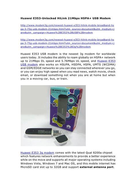 Modem Huawei E353 Usb huawei e353 unlocked hilink 21mbps hspa usb modem