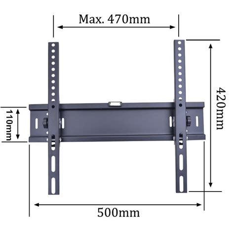 Tv Bracket 400 X 400 Pitch 7 0cm Wall Distance For 26 55 Inch Tv tv bracket 1 5mm thick 400 x 400 pitch for 26 55 inch tv black jakartanotebook