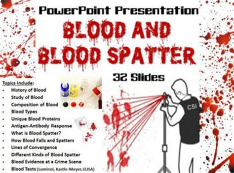 forensics spatter analysis forensic science blood and blood spatter powerpoint