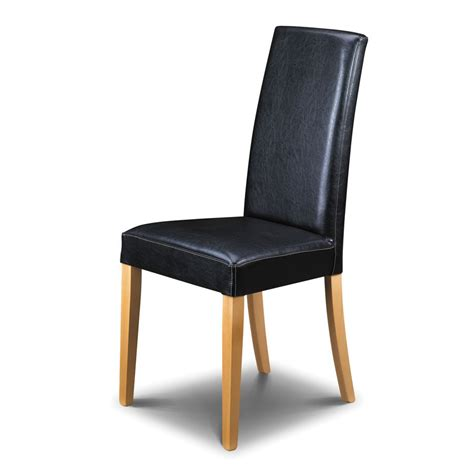Buy The Julian Bowen Athena Black Leather Dining Chair 163 Black Dining Chairs
