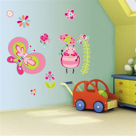 wall stickers for kids bedrooms wall painting kids room design cute butterfly wall