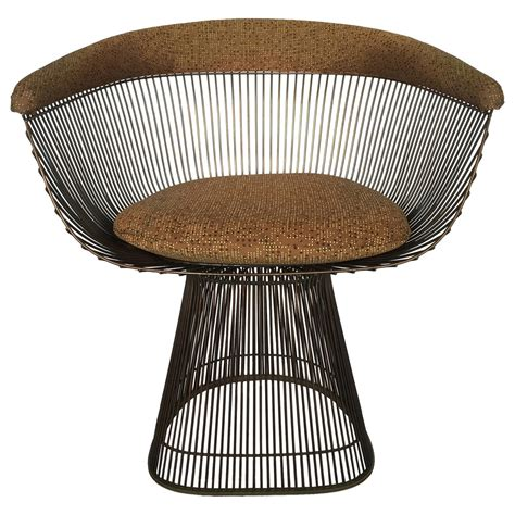 Platner Dining Chair Warren Platner Bronze Wire Dining Chairs At 1stdibs