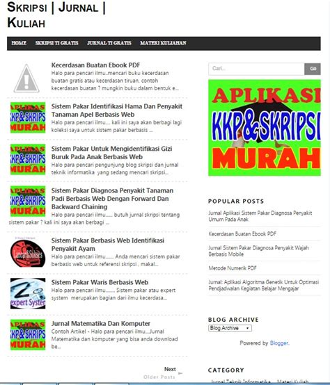 template blogspot gratis keren simple minimalis