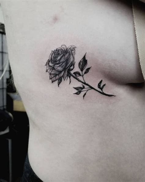 rose rib cage tattoos rib tattoos rib cage for guys and 2018
