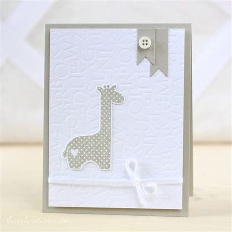 Handmade Baby Cards - 17 best ideas about handmade baby cards on