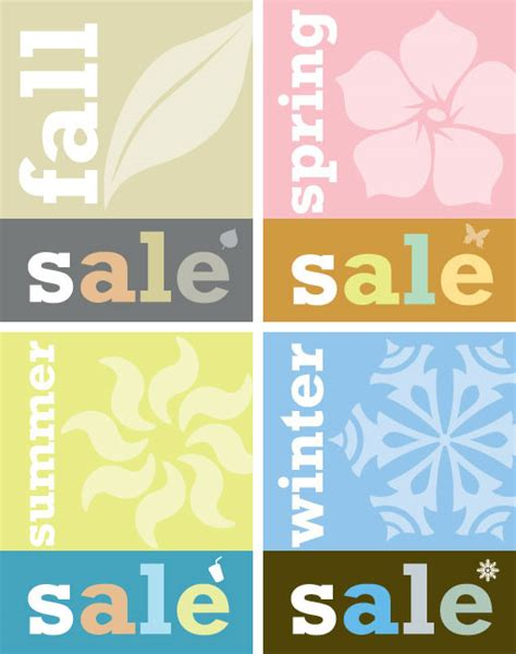 sale poster template free free vectors four seasons sale announcement posters