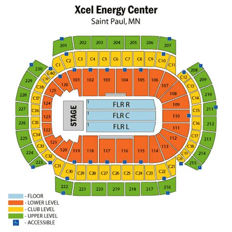 xcel energy center seating map katy perry july 09 tickets paul xcel energy center