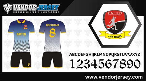 Kaos Futsal Desain Sendiri pembuatan kaos futsal printing berkerah vendor jersey