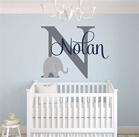 Unique Elephant Nursery Decor Wall Design Ideas Nolan Initial Name Wall For