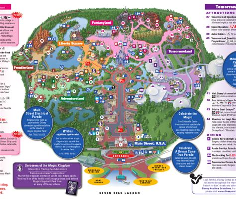 printable maps for magic kingdom walt disney world family vacation magic kingdom
