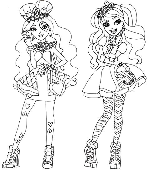 ever after high darling charming coloring pages free printable ever after high coloring pages lizzie