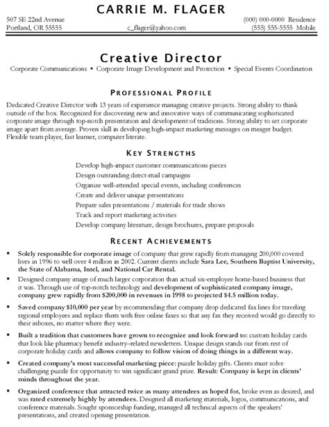 marketing resume exles marketer resume sles