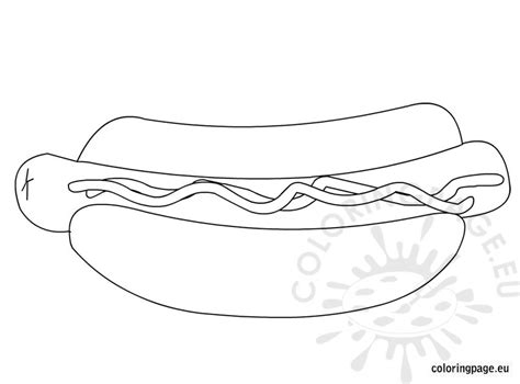 coloring pages of hot dogs fast food hot dog coloring page