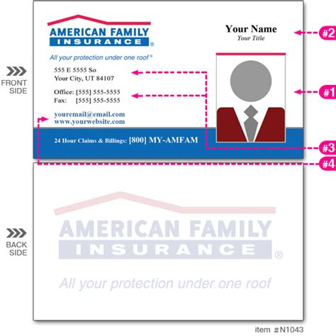 american commerce insurance company card template am fam ins business cards n1043 cardsandbanners