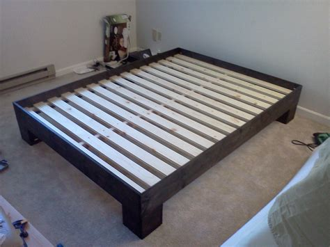 Wooden Bed Frame With Storage Bathroom Elevated Varnished Wooden Bed Frame With Storage Underneath With Simple Bed Frame And