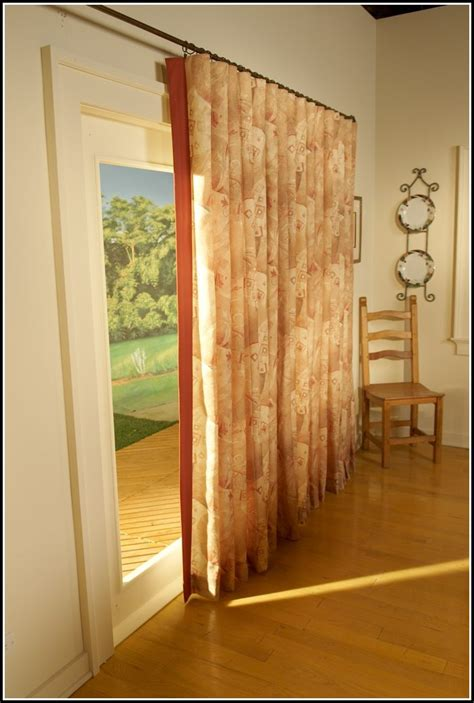 curtain rods for patio doors patio door double curtain rods curtains home design