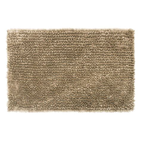 27 X 45 Bath Rug Jean Mega Butter Chenille 27 In X 45 In Bath Mat In Linen Ymb006514 The Home Depot