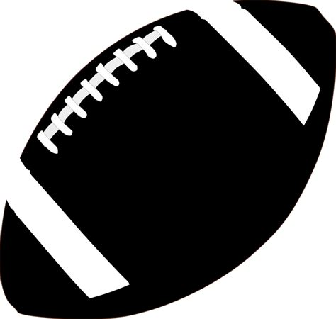football ball silhouette vector american football egg ball black 183 free vector graphic on