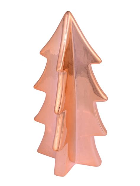 copper finish ceramic tree ornament 16cm ornaments