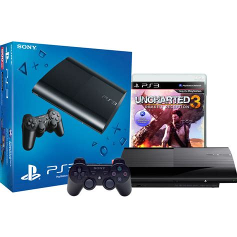 console ps3 500gb sony playstation 3 slim 500gb console includes uncharted