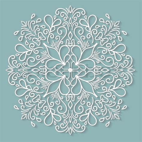 paper lace doily round crochet ornament stock vector paper lace doily decorative snowflake round crochet